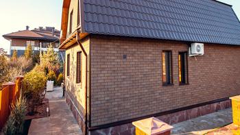 фасадная плитка Хауберк на доме